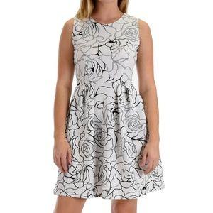 Lyss Loo I'm Smitten Silver Floral Dress #DD01